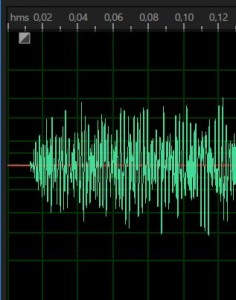 Спектр звучания колокола. Waveform of bell sound