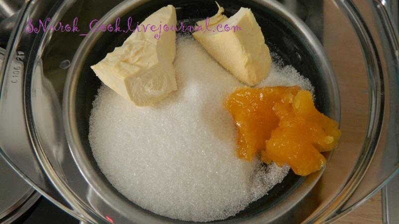 Растопить масло, сахар и мед