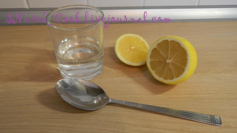 вода и лимонный сок