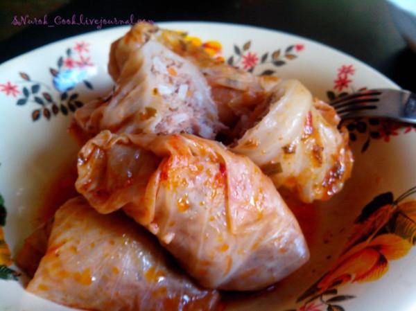 голубцы без томатной пасты рецепт с фото