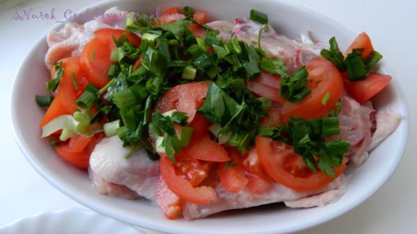 Курица с помидорами из духовки_1