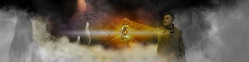 Джо Чиз ищет днем с фонарем Человека Разумного