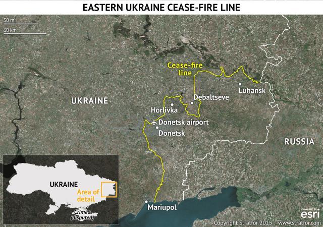 Euromaidan_2015_01_24_Stratfor_Eastern_Ukrainian_Cease-Fire_Line
