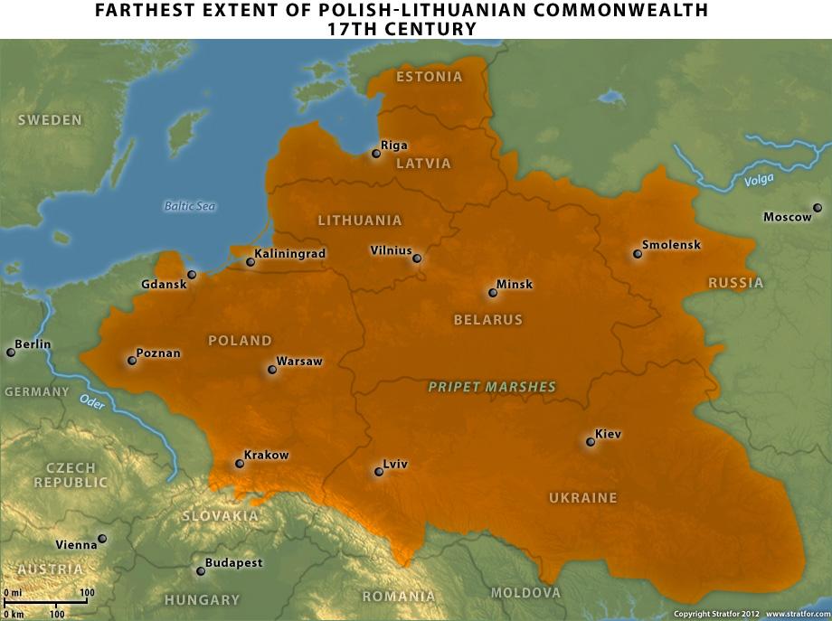 Stratfor_Poland's_strategy_2012_08_28_2_Poland-Lithuania_Commonwealth_17_century