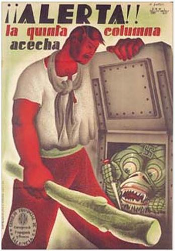 «Внимание!_Пятая_колонна_подстерегает!»_(республиканский_пропагандистский_плакат)