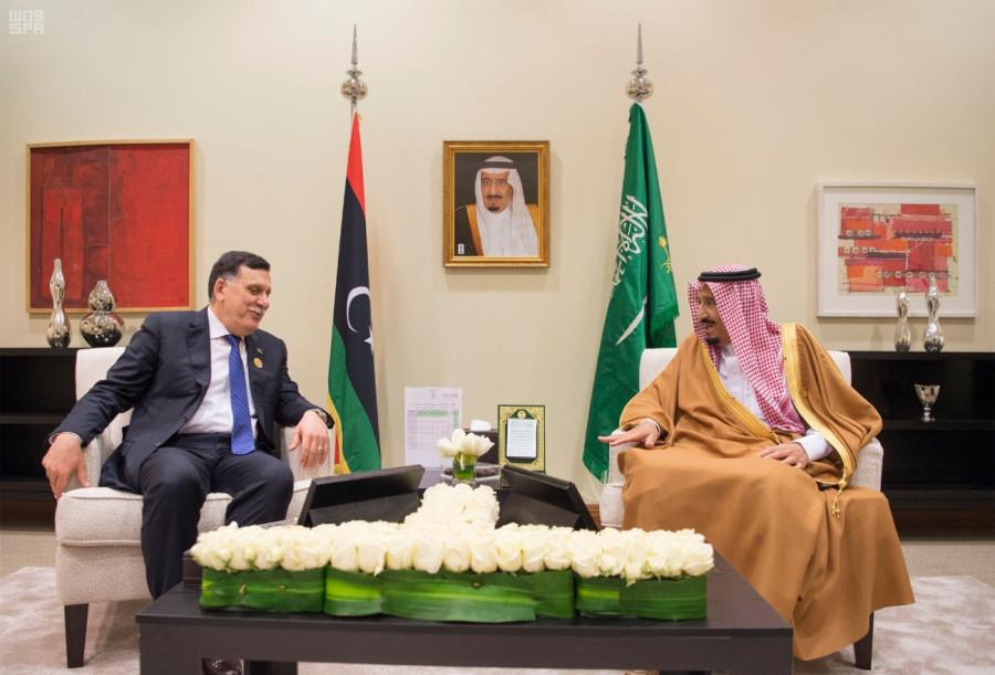 Служитель Двух Святынь  встретился с Председателем Совета правительства национального согласия Ливии