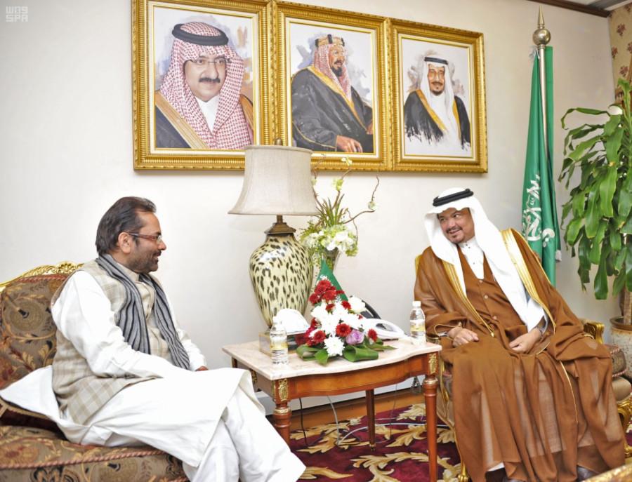 Министр Хаджа и Умры принял государственного министра по делам меньшинств Индии и главу делегации Марокко