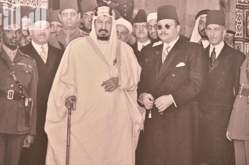 Визит Короля Абдулазиза в Египет в 1946г.