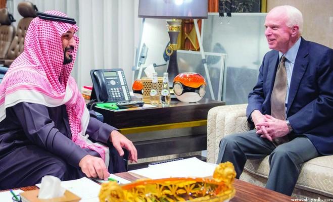Принц Мухаммад бин Салман обсудил с сенатором Д.Маккейном саудийско-американские отношения