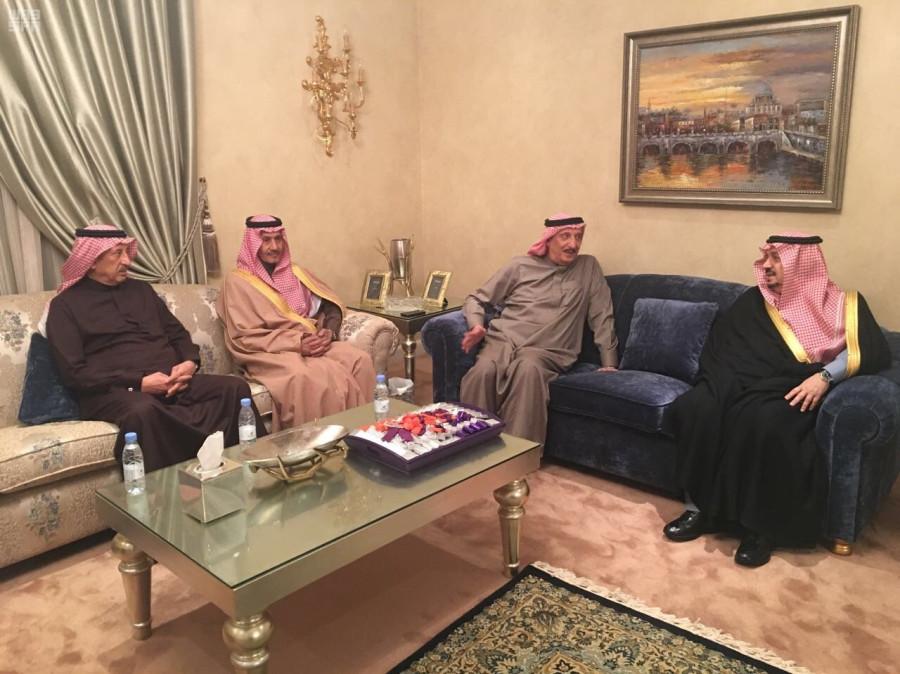 Губернатор провинции Эр-Рияд принёс соболезнования ввиду кончины принцессы Бандари бинт Насир бин Абдулазиз