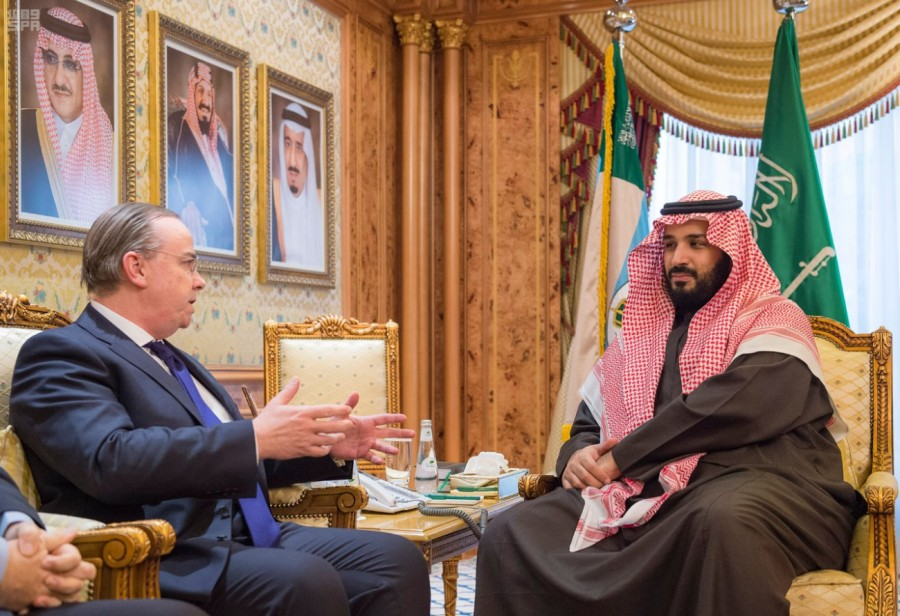 Заместитель наследного принца принял главу совета управляющих и исполнительного директора компании HSBC Holdings