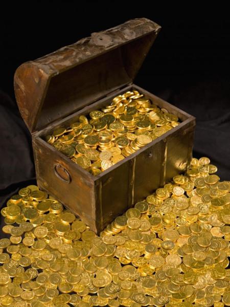 сундук с золотом картинки