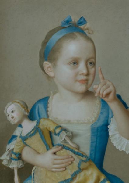 Jean-Etienne Liotard, Marie-Anne Fancoise Liotard with a Doll
