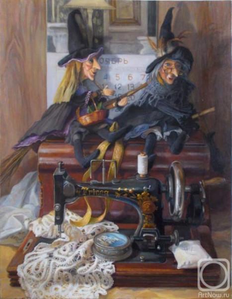 Шумакова Куклы и швейная машинка