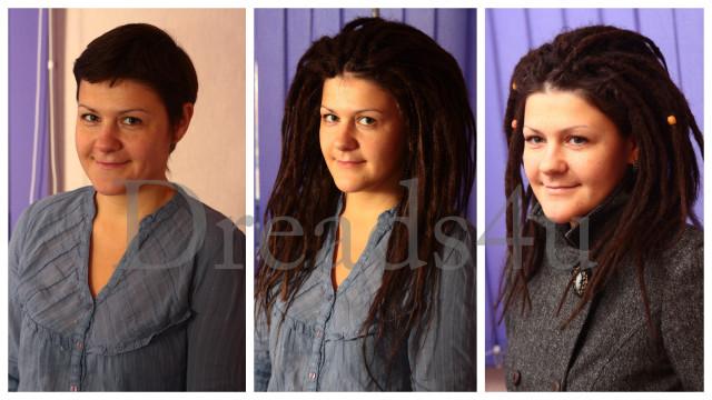 Дреды на короткие волосы фото