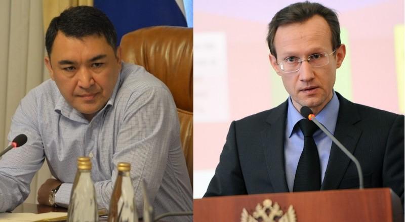 Экс-глава правительства Астраханской области Расул Султанов и и.о. министра финансов Астраханской области Виталий Шведов