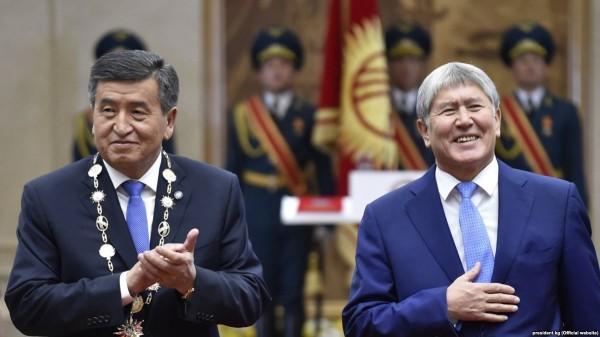 Новый президент Жээнбеков и Бывший президент Атамбаев