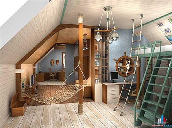 Дизайн комнат в доме-корабле