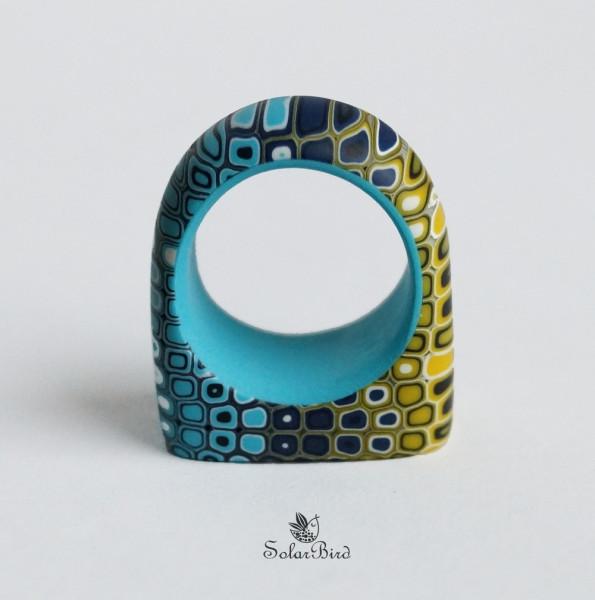 solsr bird кольцо из полимерной глины