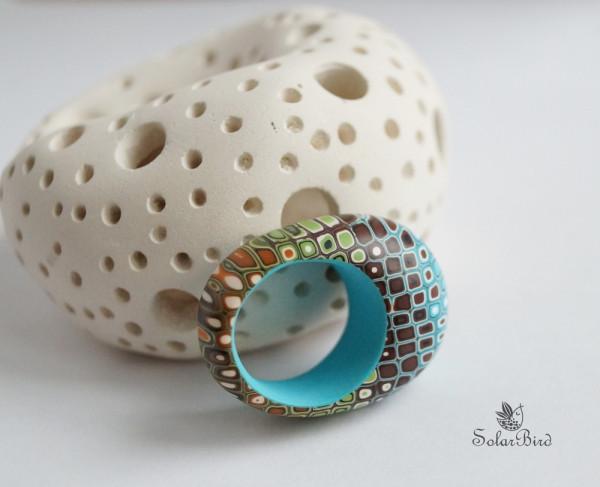 Solar Bird кольцо из полимерной глины