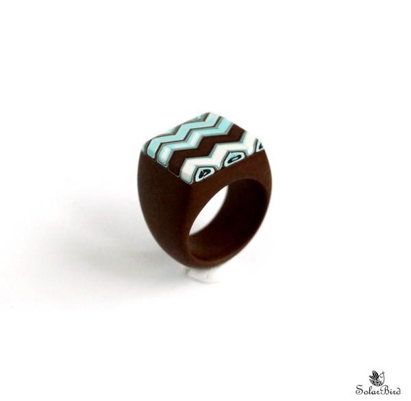 Solar Bird кольцо ручной работы