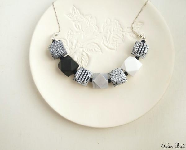 solar bird geometric necklace