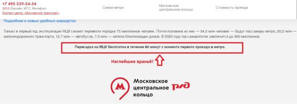 мцк-ложь