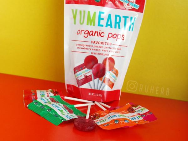 Низкокалорийные органические леденцы YumEarth