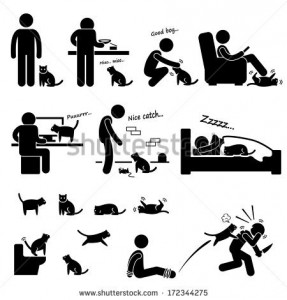 stock-vector-man-and-cat-relationship-pet-stick-figure-pictogram-icon-172344275