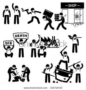 stock-vector-riot-rebel-revolution-protesters-demonstration-stick-figure-pictogram-icons-216740722