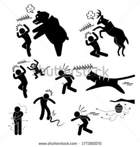 stock-vector-wild-animal-attacking-hurting-human-stick-figure-pictogram-icon-177280070