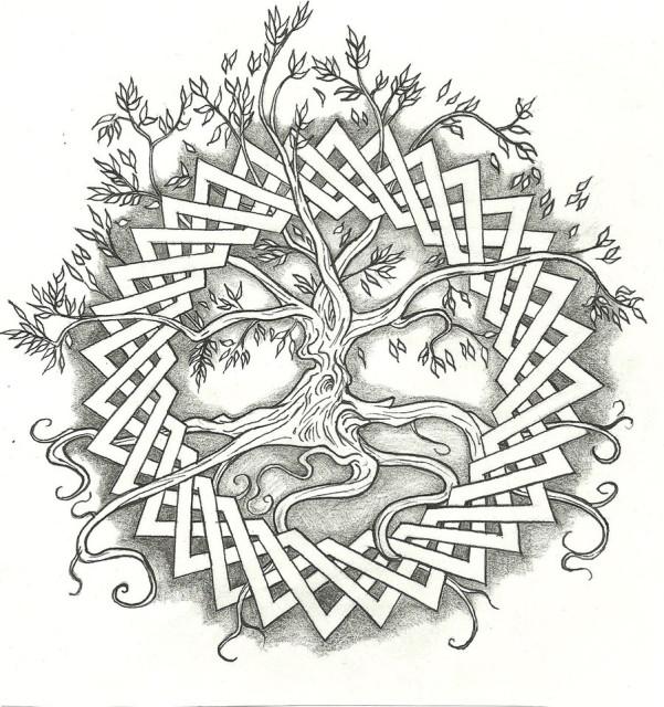 древо жизни имеет круговую
