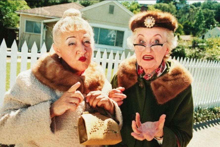 Смешные картинки с бабушками двумя, скрепки школьная