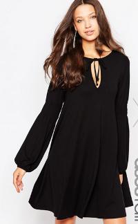 ASOS Tall ASOS TALL Exclusive Mini Dress With Off Shoulder at ASOS.png