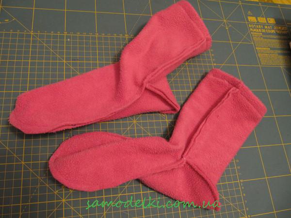 Как сшить теплые носки своими руками