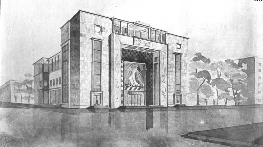 Проект кинотеатра на базарной площади copy
