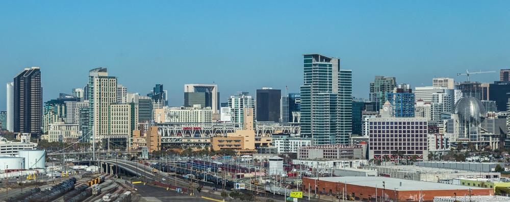 Сан-Диего. Вид на Даунтаун.
