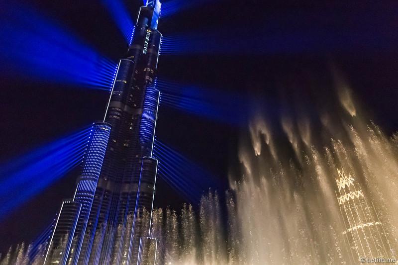 Лазерное шоу в Дубае (фоторепортаж)