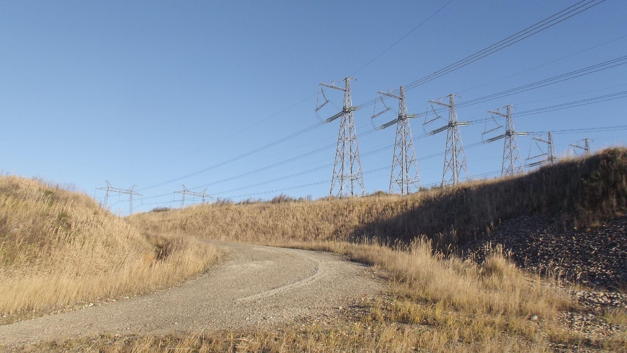 Высоковольтки в окрестностях Загорской ГАЭС. Фото: SoLutova