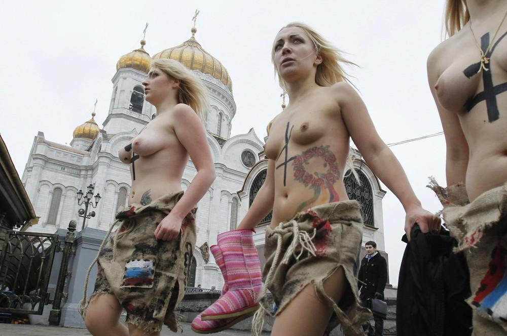 Движение Femen в Москве. Фото: gazeta.ru