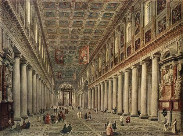 Церковь Санта Мария Маджоре. Центральный неф. Рим