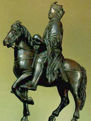 конная статуэтка Карла Великого ок.860