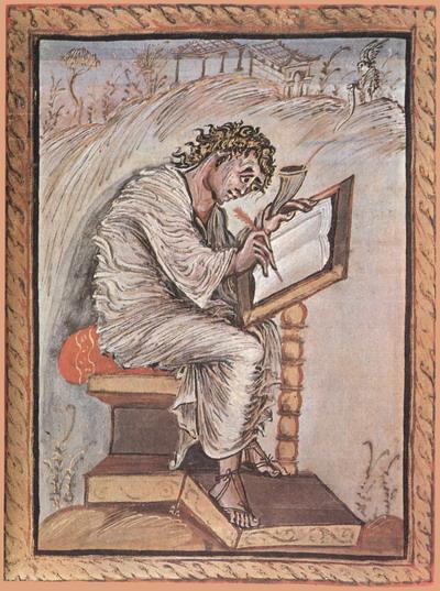 Евангелие Эбо. Св.Матвей. Реймская школа