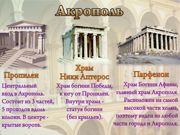Афина презентация 5 класс