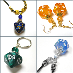 dice jewelry cool stuff for gamers and geeks