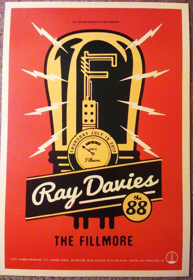 Ray Davies at The Fillmore Auditorium, San Francisco, 07/19/12