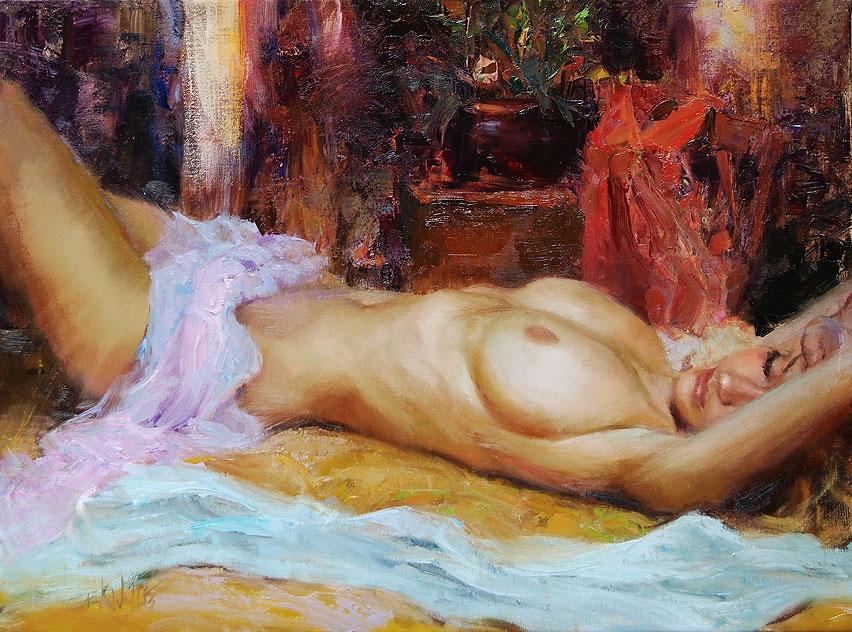 Обнаженные И Голые Женщины В Картинах Художника