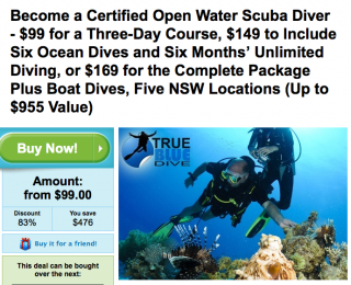 Certified Water Scuba Diver