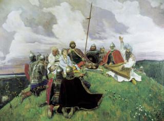 Картина Васнецова «Витязи слушают Бояна»