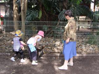 Диана, Эвелина и мама догнали кенгуру